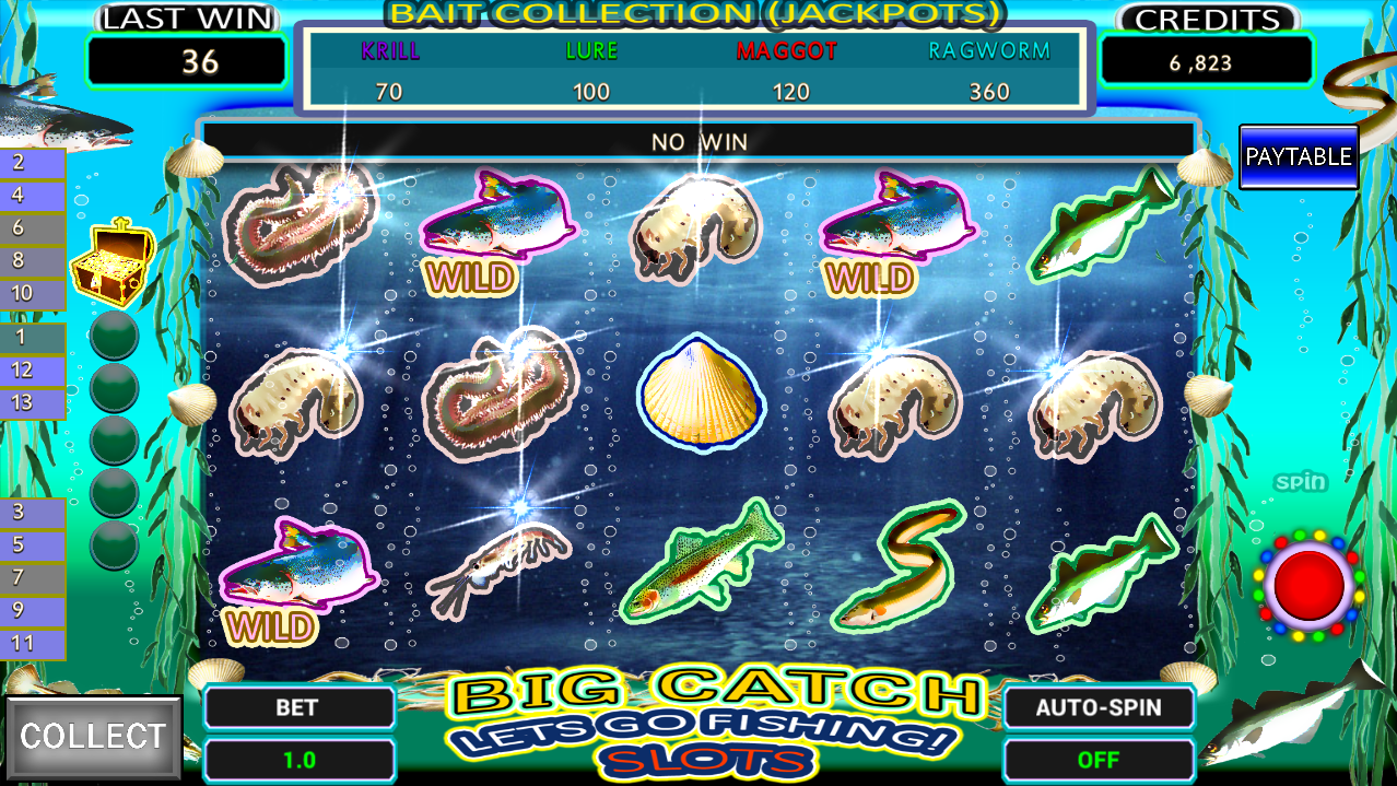 oyster in a slot machine