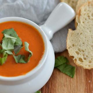 Roasted Garlic Basil Tomato Soup