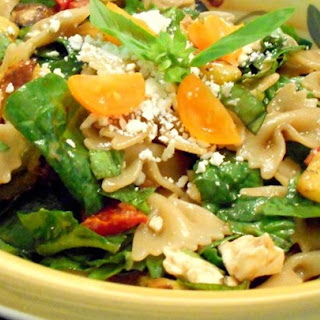 Greek Pasta Salad with Roasted Vegetables and Feta