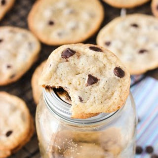 Thin and Chewy Chocolate Chip Cookies with Bisquick.