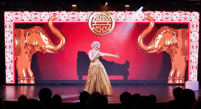 A musical production in the Star Theater on Viking Star.