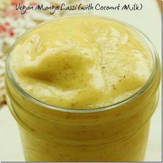 Vegan Mango Lassi. A Creamy Warm Weather Treat! (vegan, gluten free, soy free)