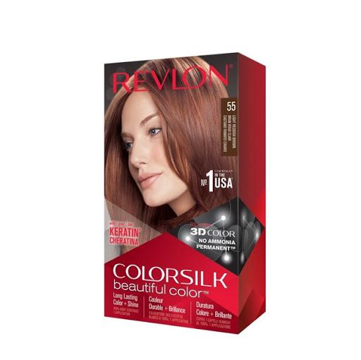 tinte revlon colorsilk keratina castaño rojizo claro 55