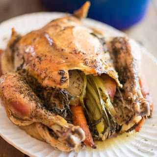 Dutch Oven Roasted Chicken.