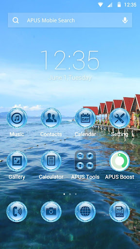 Blue Mood theme for APUS