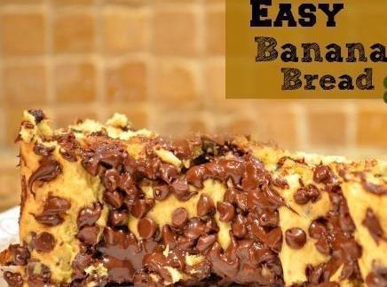 3 Ingredient Banana Bread Recipe