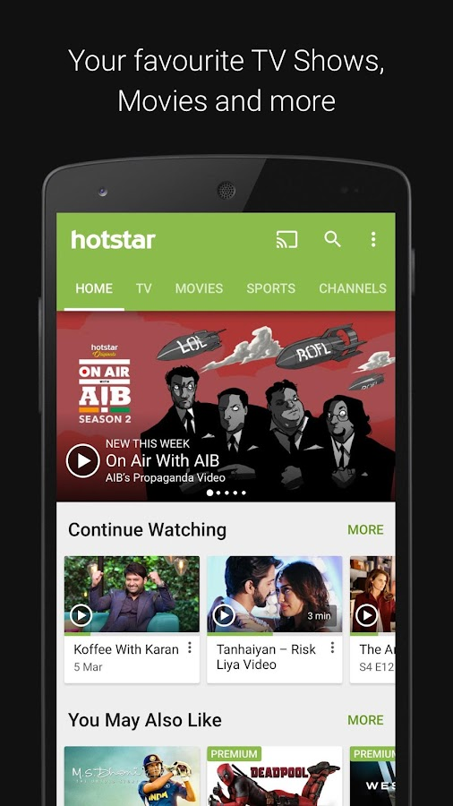 Hotstar Live TV for Watching TV Shows and Streaming Movies Online