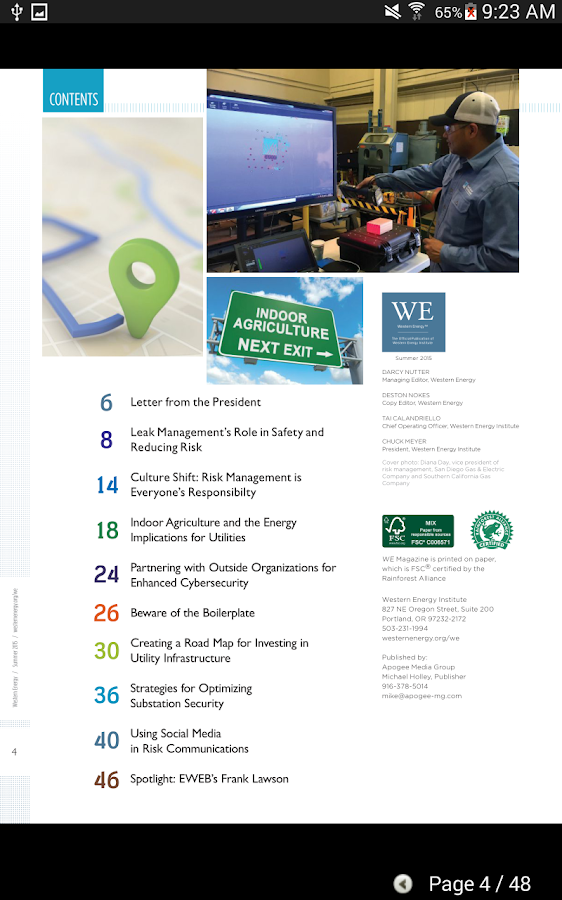 Western Energy eMagazine- screenshot