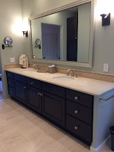 Photo: Kitchen Tune-Up remodels bathrooms as well as kitchens. We had refaced our Santa Barbaraclient's kitchen cabinets several years ago.She called us recentlyto update her bathroom with a Maple/Espresso raised panel door. #bathroomremodeler  #refacing #kitchentuneupventura
