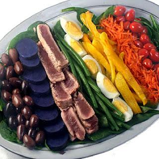 Rainbow Nicoise Salad and Amazing Vinaigrette