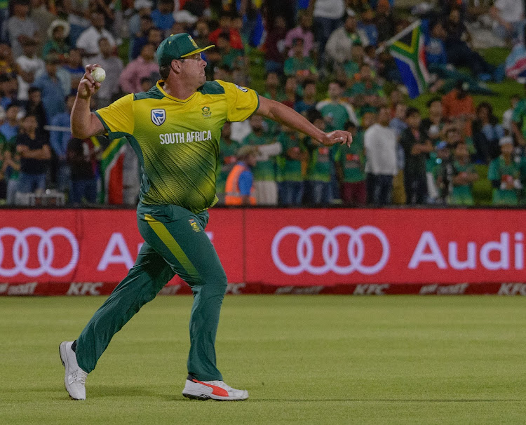 Robbie Frylinck of South Africa during the International T20 game between South African and Bangladesh at the Managing Oval, Bloemfontein on 26 October 2017.