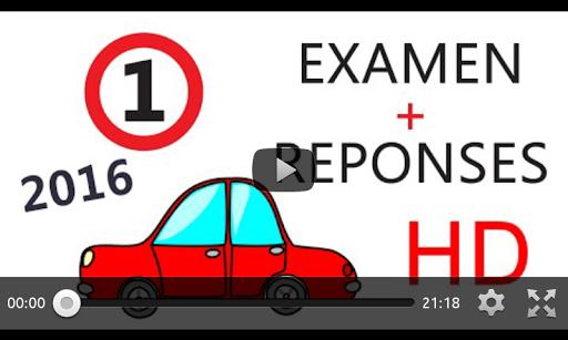 examen code de la route 2015