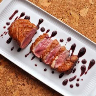 Duck Breasts with Blueberry-Caramel.