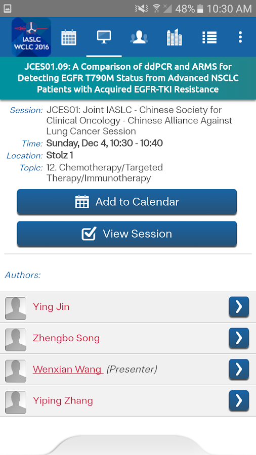 WCLC 2016- screenshot