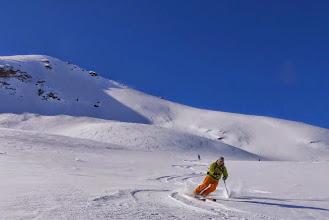 Photo: Derek's opening turns in the Vallon