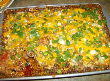 Dan's Meaty Layered Bean Dip Recipe