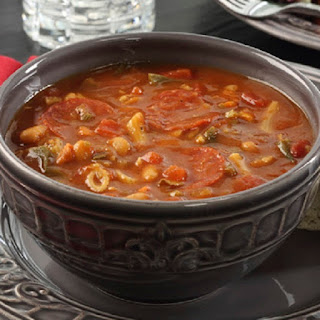Slow Cooker Minestrone with Pepperoni