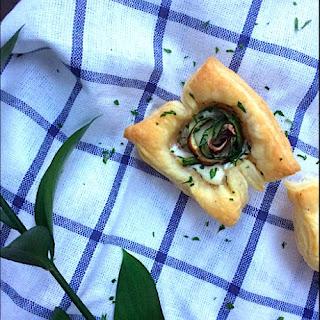 Zucchini & Mushroom Roses