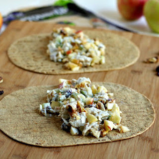 Chicken Apple Cranberry Salad Wraps {made with Greek yogurt}