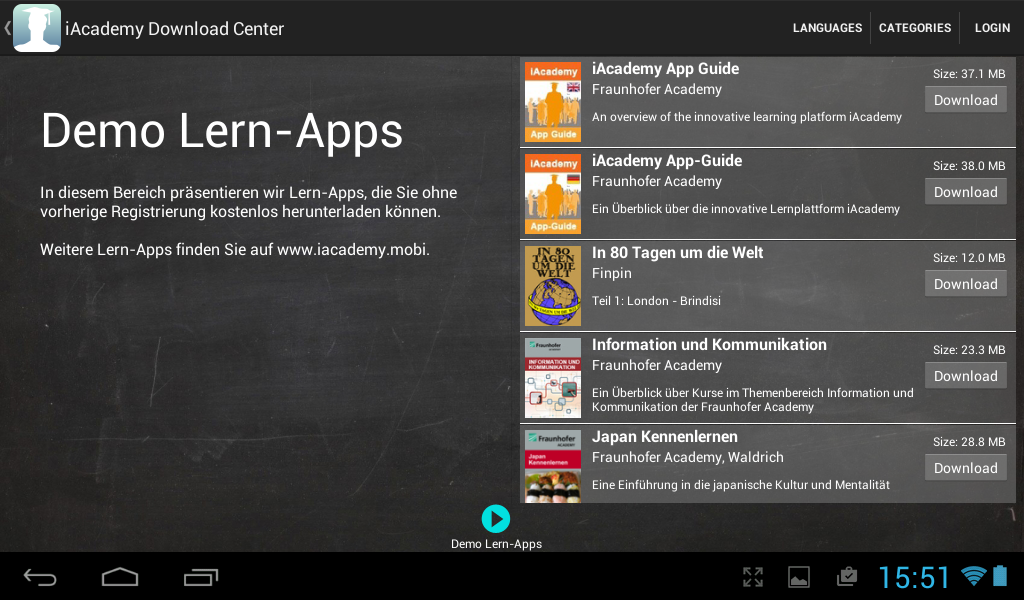 iAcademy- screenshot