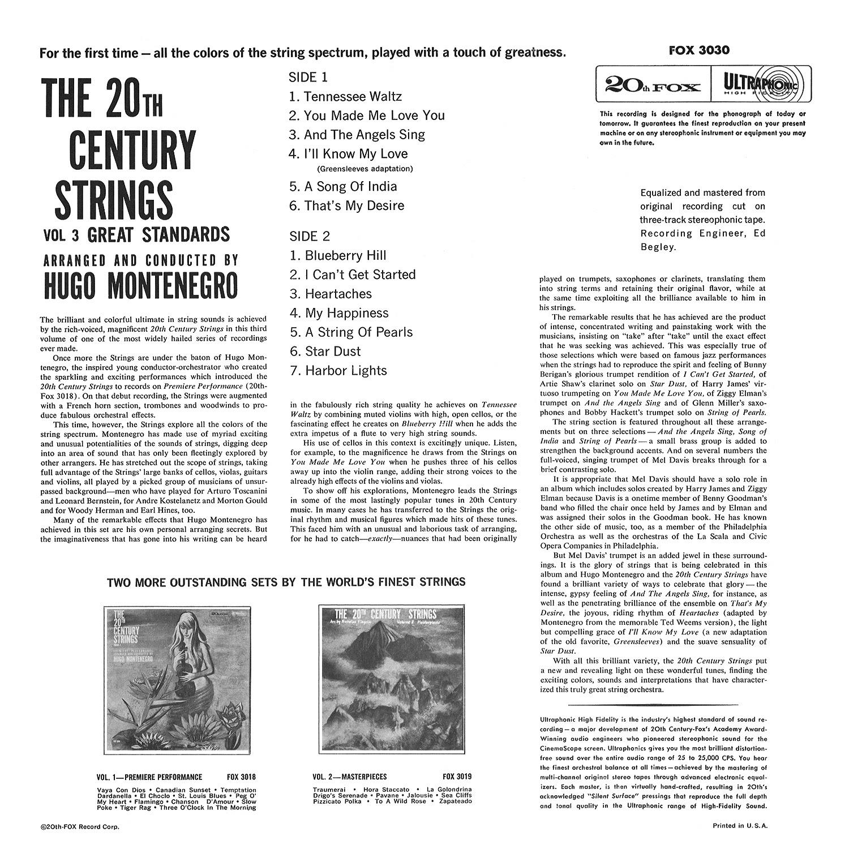 Hugo Montenegro, The 20th Century Strings