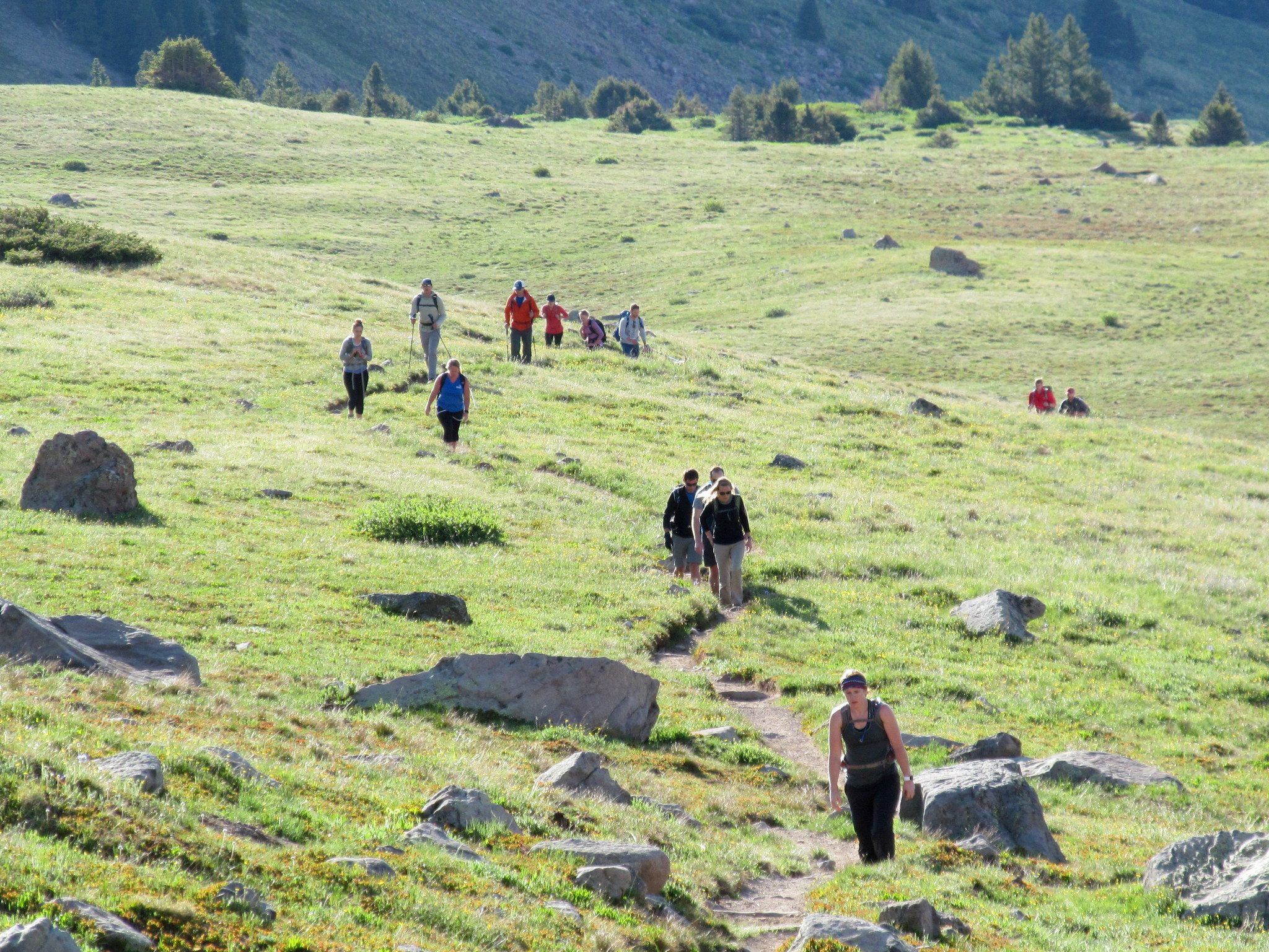 Photo: Hikers coming up the trail