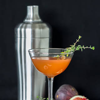 Whiskey Fig Cocktail.