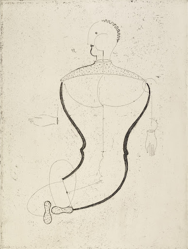 Abstract Figure, Facing Left: Figure S, from the Masters' Portfolio of the Staatliches Bauhaus, 1923,