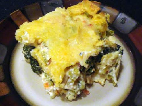 """Dewillia's Chicken Tortilla Spinach Casserole""""Made this for dinner tonight and found it..."""