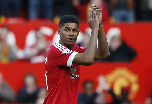 Manchester United's Marcus Rashford applauds fans after a match. Picture: REUTERS