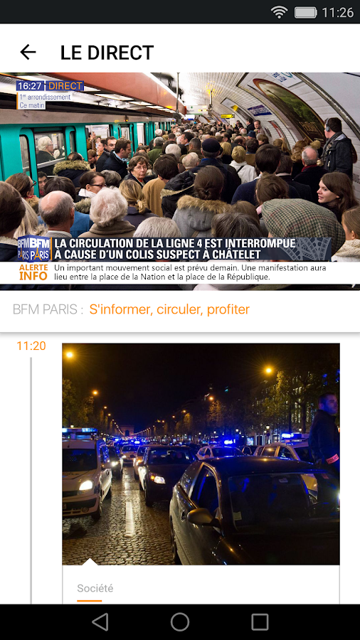 BFM Paris – Capture d'écran