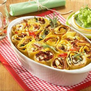 Ricotta Lasagna Rolls