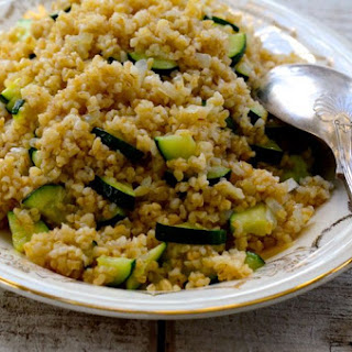 Toasted Bulgur Pilaf with Zucchini. Never too much..