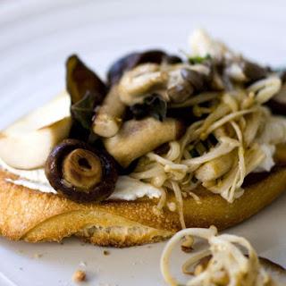 Wild Mushroom and Goat Cheese Bruschetta