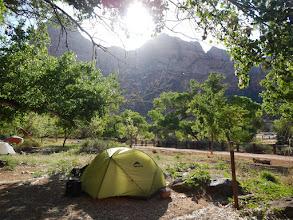Photo: Sunshine at camp.