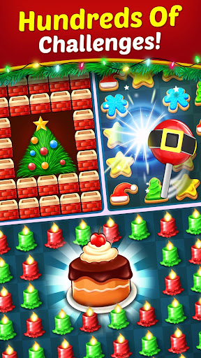 Christmas Cookie - Santa Claus's Match 3 Adventure modavailable screenshots 5