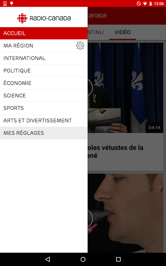 Radio-Canada- screenshot