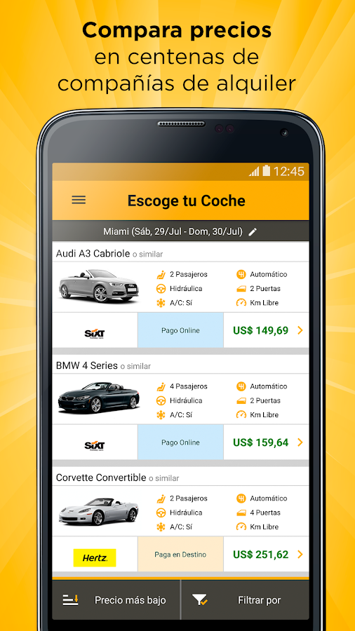 Rentcars.com Cheap Car Rental- screenshot
