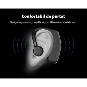 Casca handsfree Bluetooth, model business, S109 Negru