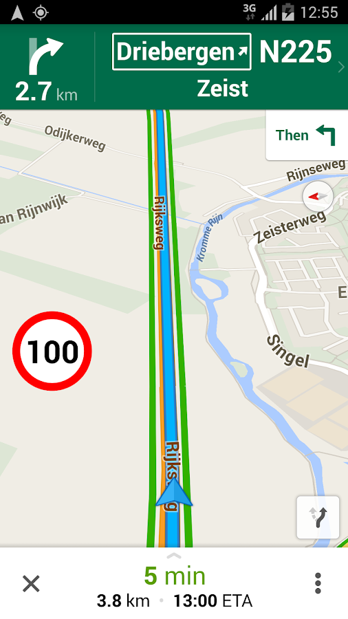 how to show speed limit on google maps