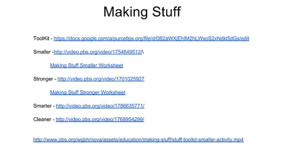 Making Stuff Google Docs