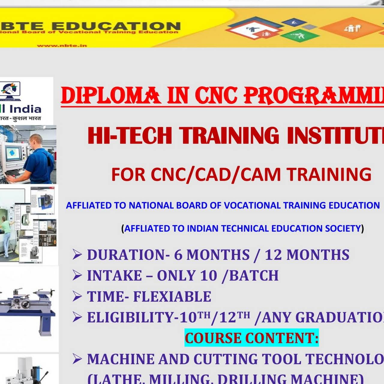 Hi-Tech Training Institute - CNC /CAD/CAM/AUTOMATION