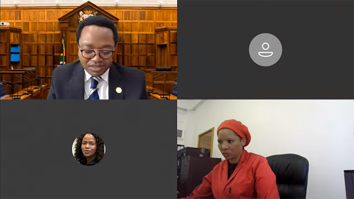 Speaker Masizole Mnqasela (top left) convenes a virtual sitting of the Western Cape Provincial Parliament.