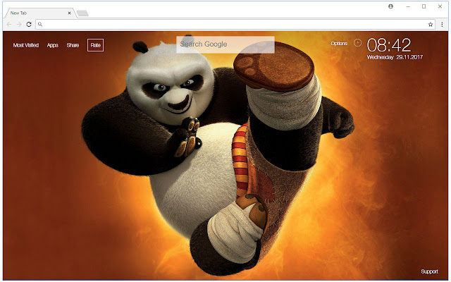 Kung Fu Panda HD Wallpaper New Tab Themes