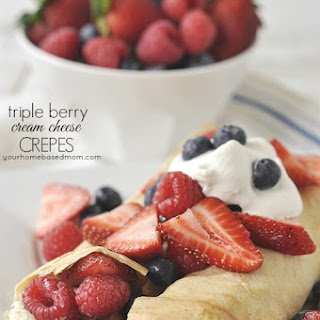 Triple Berry Cream Cheese Crepes.