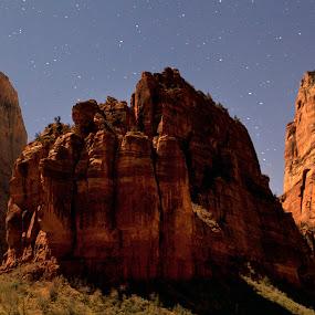 Angel's Landing  by John CHIMON - Landscapes Starscapes ( pwcstars )
