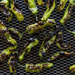 Grilled Padrón Chiles with Fish Sauce and Lime.