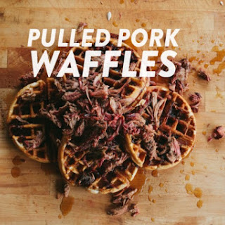 Pulled Pork Waffles with Bourbon Maple Syrup