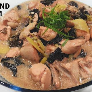Braised Nam Yu Chicken with Wood Ear Fungus/Black Fungus (腐乳雲耳燜雞).