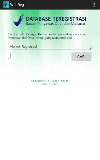 Data Produk Teregistrasi
